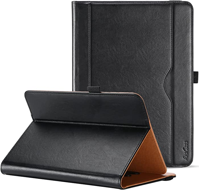 "ProCase Universal Case for 9-10 inch Tablet, Stand Folio Universal Tablet Case Protective Cover for 9"" 10.1"" Touchscreen Tablet, with Adjustable Fixing Band and Multiple Viewing Angles – Black"