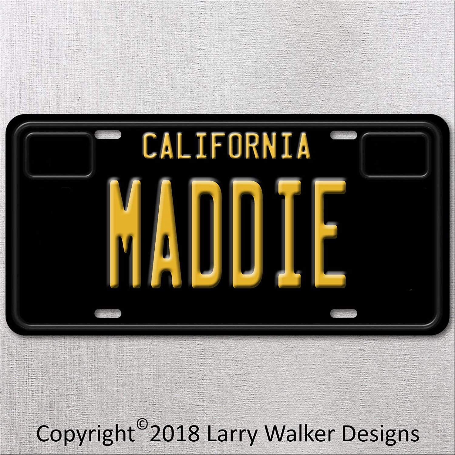 Amazon com : Maddie persons name on black California plate Aluminum
