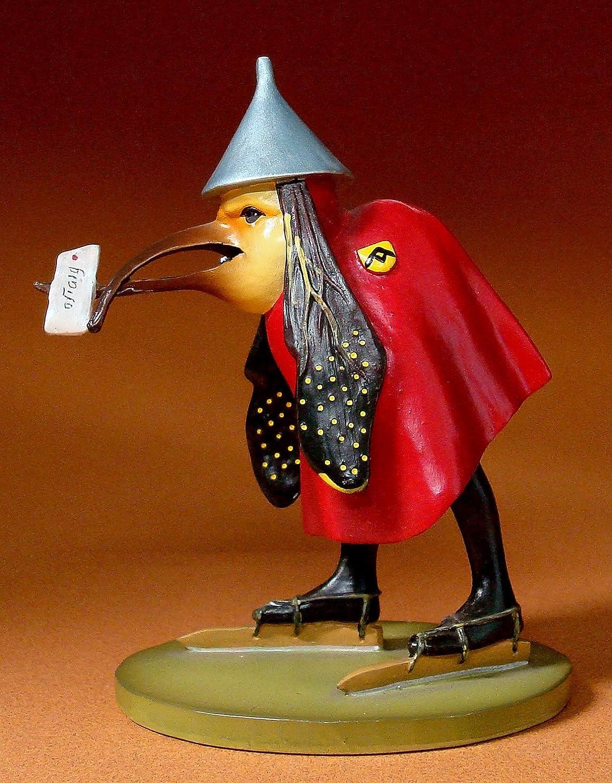 Sculpture resine dapr/ès un motif de Hieronymus Bosch #06 Oiseau avec lettre
