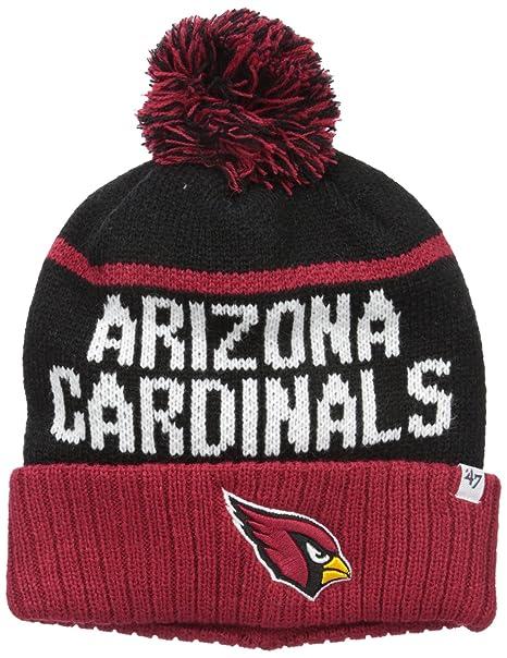 78418e25e98c71 '47 NFL Arizona Cardinals Linesman Cuff Knit Beanie with Pom, One Size,  Black