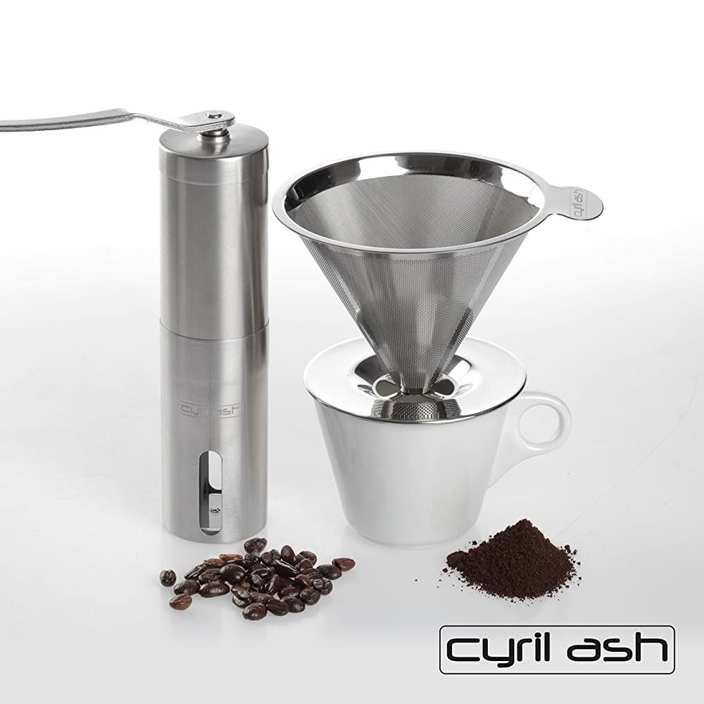 Cyril Ash Coffee Grinder and Pour Over Coffee Maker Review