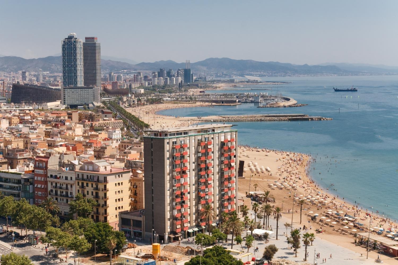 Amazon.com: Antena playa Barcelona España mural por ...