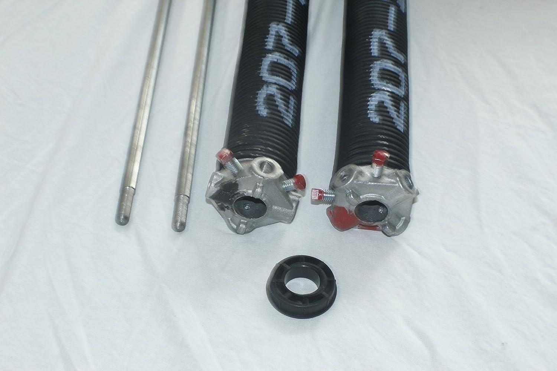 "Pair of 207 X 2"" X 29"" Garage Door Torsion Springs with Winding Bars"
