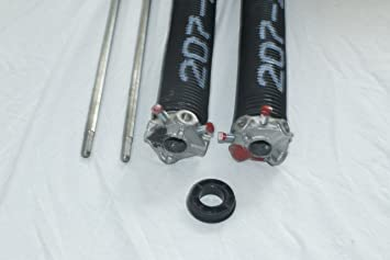 Pair of 207 X 2 X 22 Garage Door Torsion Springs with Winding Bars