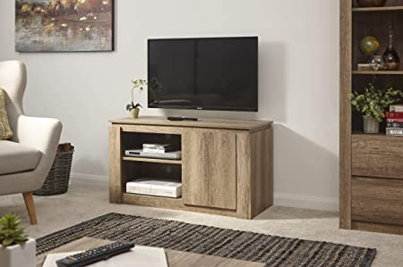 Canyon - Mueble de TV Compacto, diseño 3D, Acabado en Color Roble: Amazon.es: Hogar