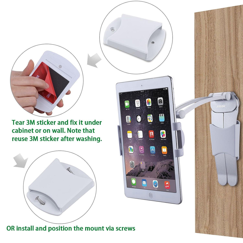 Jubor Ipad Stand Wall Mount In Kitchen Tablet Stand Jpg 1500x1500  Adjustable Under Cabinet Ipad Mount