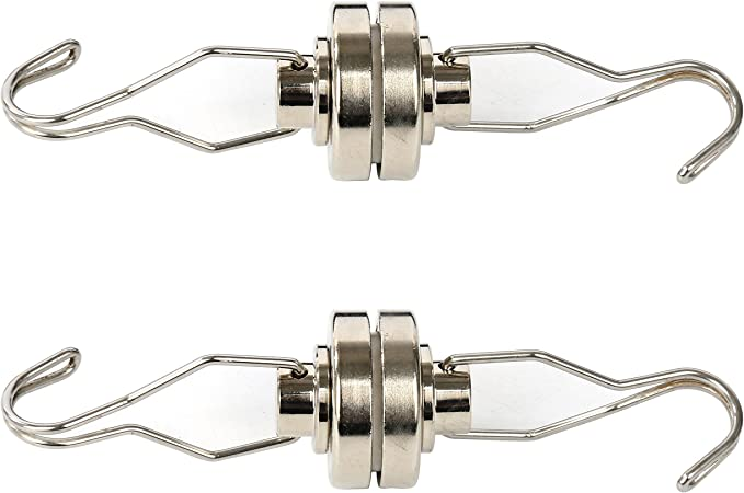 4 Pack Yaekoo Heavy Duty 80LB Magnetic Swing//Swivel Hooks Super Strong Neodymium All-Purpose Hangers Towel Coat Clothes Bag Cap Tool Holder for Kitchen Bathroom Basement Garage RV Storage D32mm