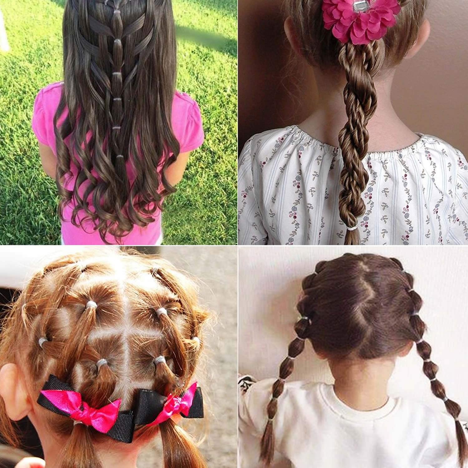 Hair Bands Ties 200pcs Tiny Soft Elastic Rubber Bands Not Hurt Hair For Toddler Baby Kid Beauty Cjp Org In