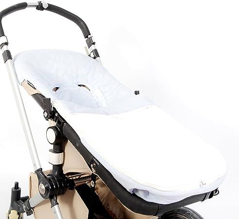 Saco Polipiel Universal Para Silla De Paseo Serie Dobby Color Blanco Azul Amazon Es Bebé