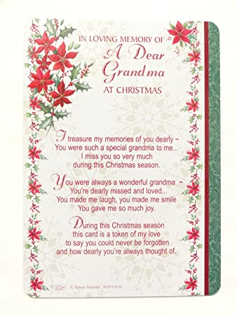 In Loving Memory Of A Dear Grandma At Christmas Plastic Grave Card