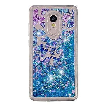 HopMore Funda para Xiaomi Redmi Note 4X / Note 4 Silicona 3D Glitter Liquido Brillante Purpurina Motivo Transparente TPU Gel Carcasa ResistenteSlim ...