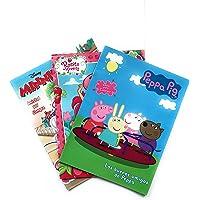 Peppa Pig, Minnie Mouse y Rosita Fresita Libro para Colorear (Kit 3-en-1). Tres libros para Colorear de 16 páginas. Incluye todos los personajes de Peppa, Minnie y Rosita Fresita. Estimular Motricidad Fina. Entretenimiento y Aprendizaje Infantil. Kids Coloring Kit: Peppa, Minnie Mouse & Strawberry Shortcake Coloring Books.