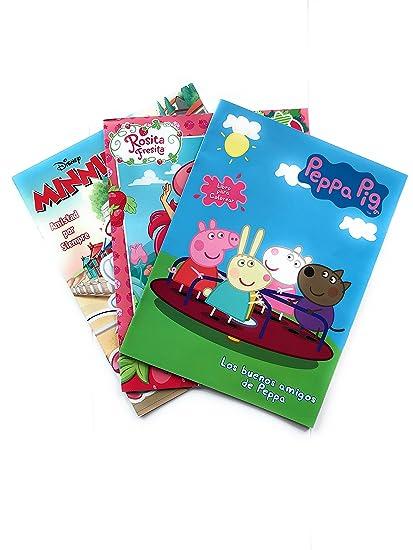 Peppa Pig Minnie Mouse Y Rosita Fresita Libro Para Colorear Kit 3 En 1 Tres Libros Para Colorear De 16 Paginas Incluye Todos Los Personajes De