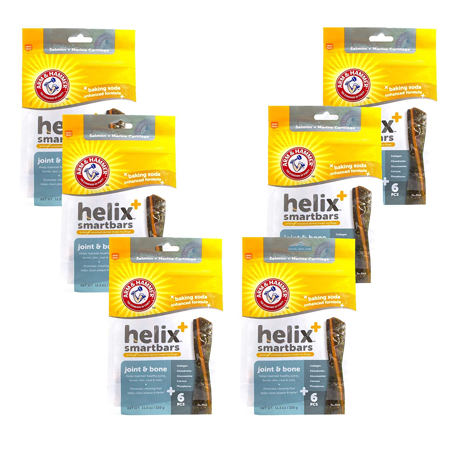 Arm Hammer Helix SmartBar Dog Dental Chews Vitamin Enriched Dog Dental Treats Digestion Immune Support