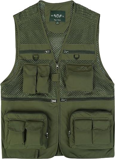 Mesh Multi-Pocket Vest Outdoor Fishing Hunting Photography Travel
