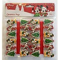 Disney Paquete De 24 Pegatinas De Navidad Mickey