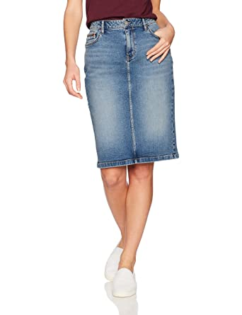 0d03f4ebc Calvin Klein Jeans Women's Denim Pencil Skirt, Salt/Pepper, 29: Amazon.in:  Clothing & Accessories