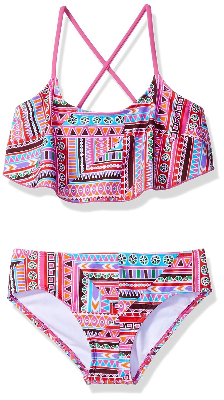 Kanu Surf Girls' Cindy Flounce Bikini Swimsuit 4522