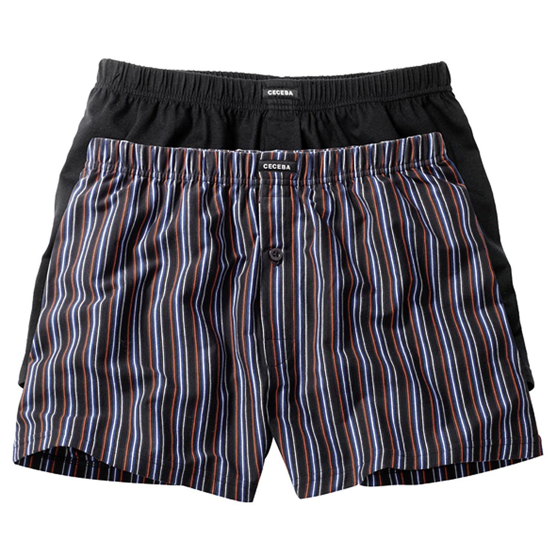 Ceceba Men's Boxer Shorts Twin Pack Boxer Shorts With Pouch Xxl Plus Size