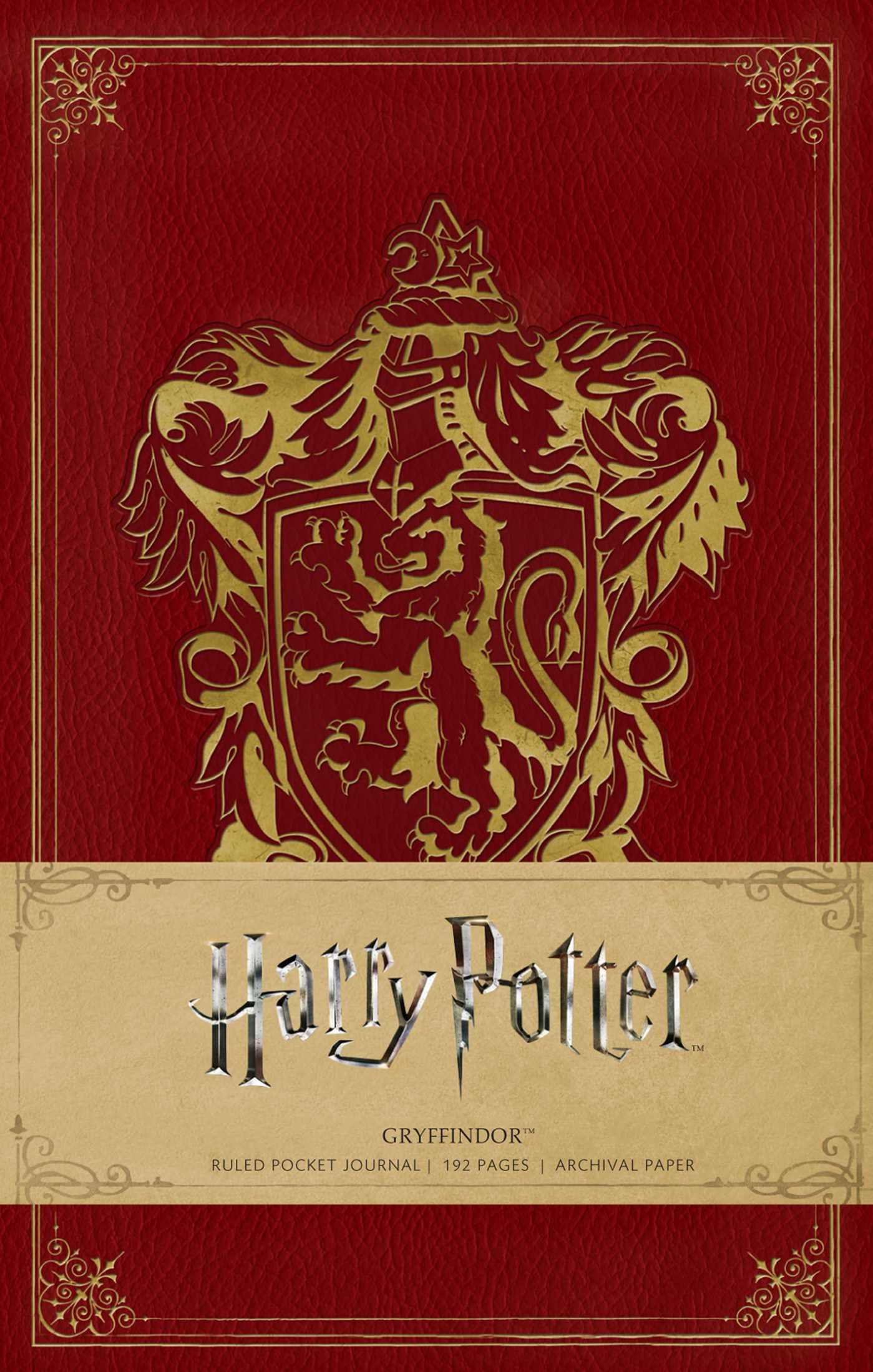 Harry Potter: Gryffindor Ruled Pocket Journal (Insights ...