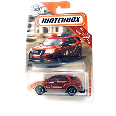 Matchbox 16 Ford Interceptor Utility Red/Orange 42/100 MBX Rescue 1/120: Toys & Games
