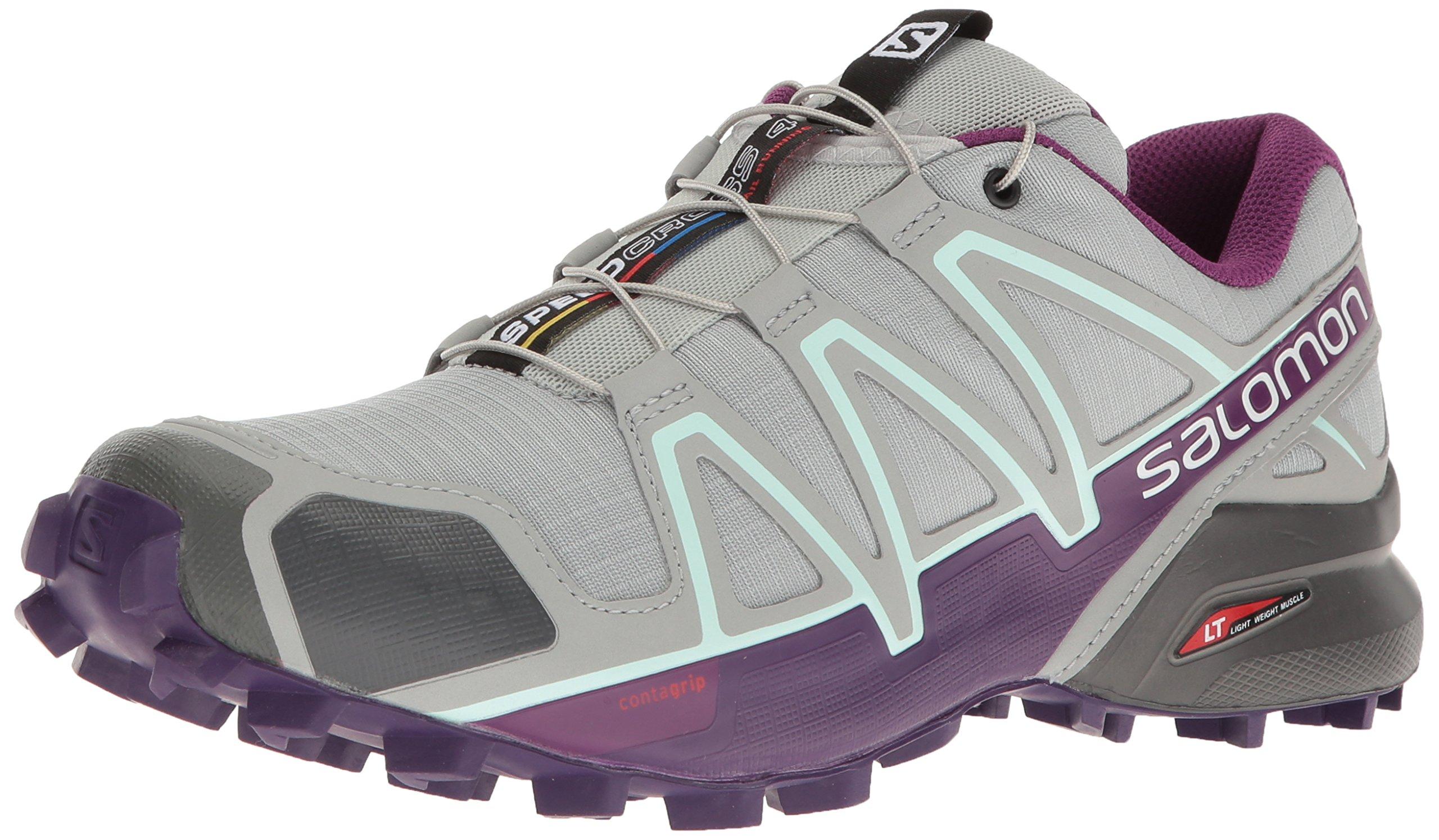 Salomon Women's Speedcross 4 W Trail-Runners, Quarry, 10.5 M US