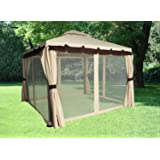 Greenbay 3x3M Aluminium Deluxe Luxury Pavilion Gazebo Awning Canopy Sun Shade Shelter Garden Party Tent