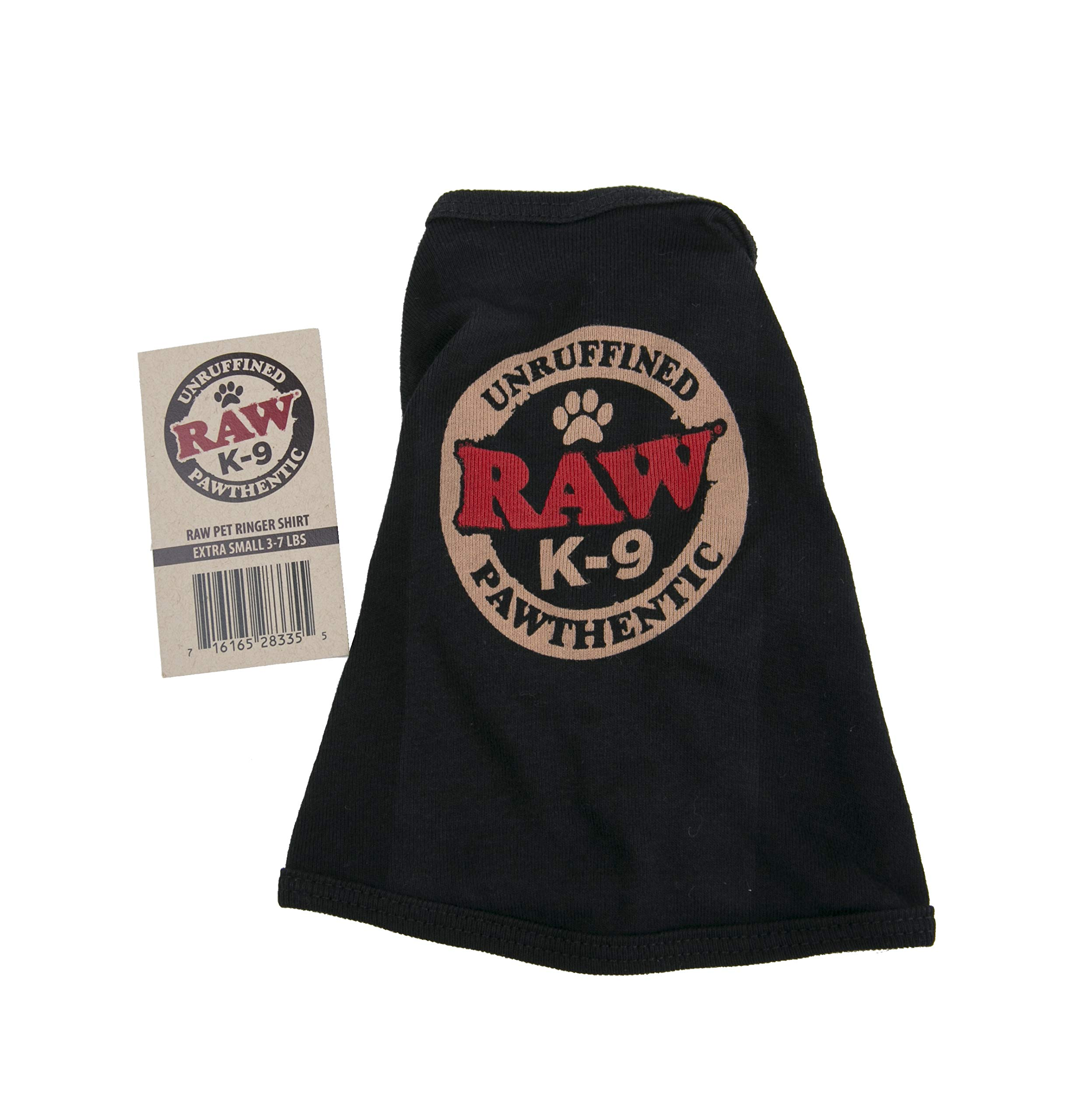 RAW Natural Rolling Papers - Dog K-9 Ringer Shirt - (Extra Small)