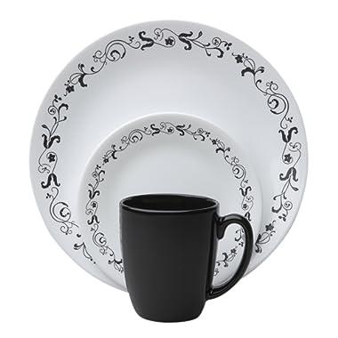 Corelle Livingware 16 piece Dinnerware Set, Service for 4, Garden Getaway