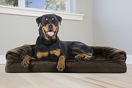 Amazoncom Furhaven Pet Dog Bed Orthopedic Ultra Plush Sofa Style