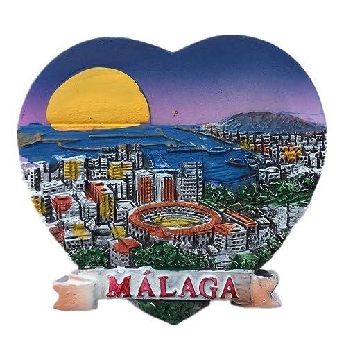 Málaga España Europa Ciudad del Mundo resina 3d fuerte imán para ...