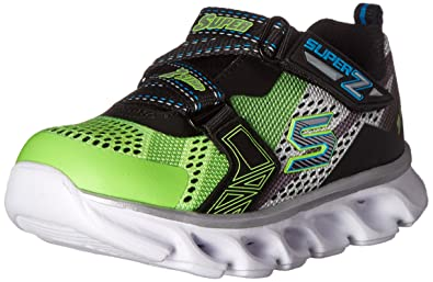 skechers shoes for boys. skechers kids boys\u0027 hypno-flash light up loafer, lime/black, 5 shoes for boys t