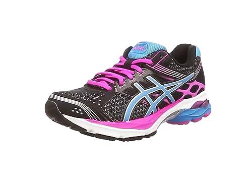 ASICS Gel-Pulse 7 - Zapatillas de Running para Mujer, Color Negro (Black/Turquoise/Pink Glow 9040), Talla 37.5: Amazon.es: Zapatos y complementos