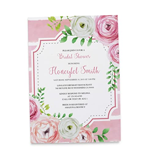personalized bridal shower party invitation cards custom bridal shower party invitations