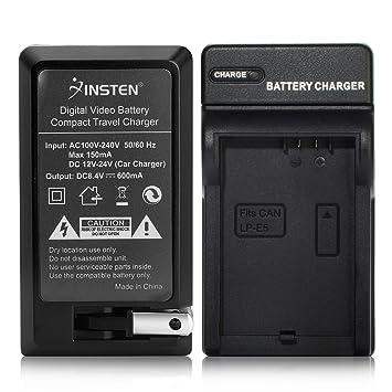 Amazon.com: Insten LP-E5 Cargador de batería compatible con ...
