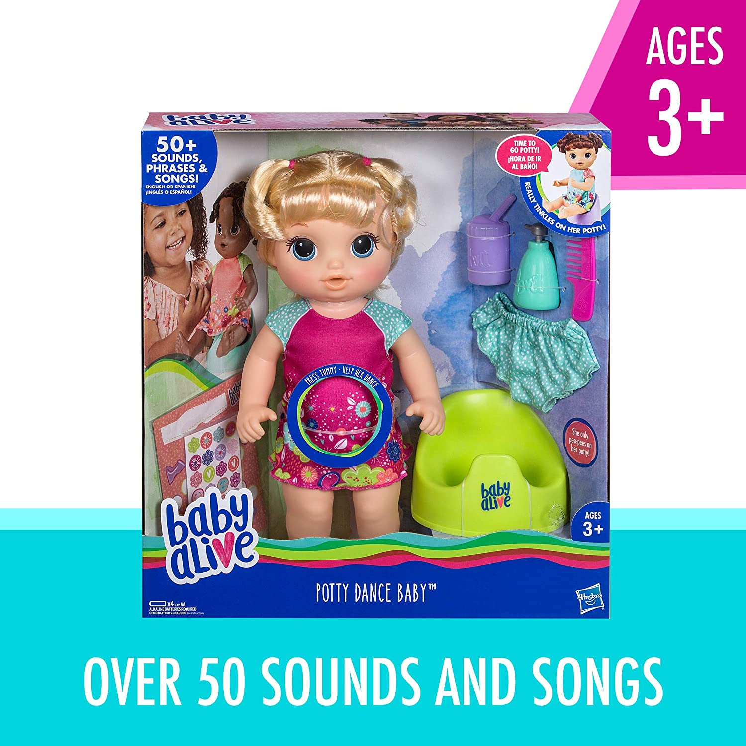 Amazon Com Baby Alive Potty Dance Baby Talking Baby Doll With