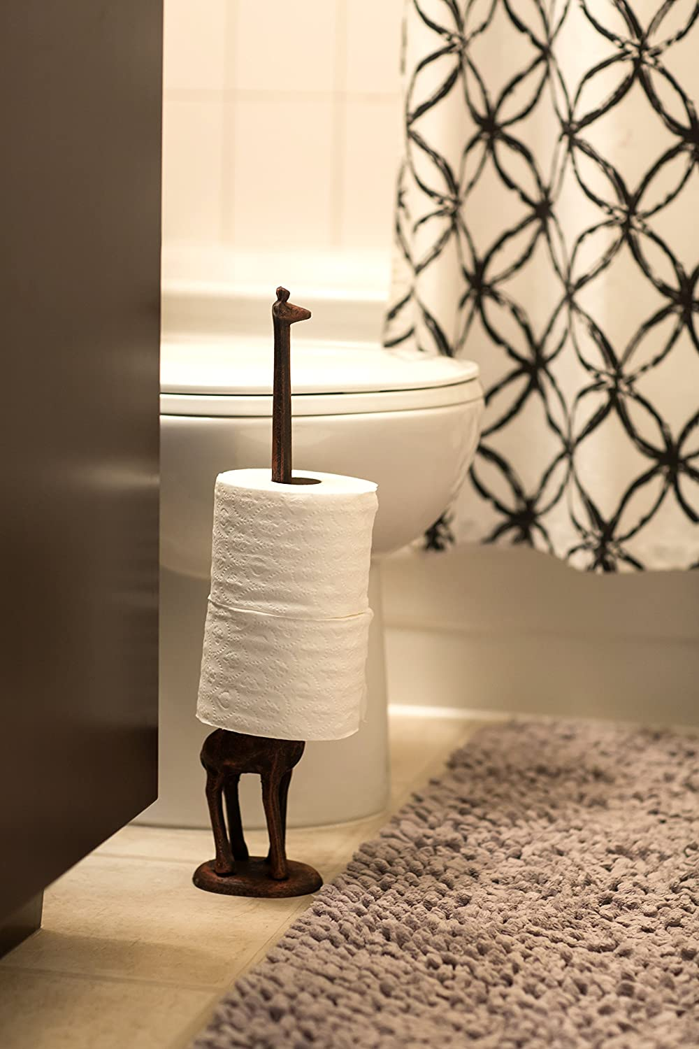 Paper Towel Holder Or Free Standing Toilet Paper Holder Cast Iron