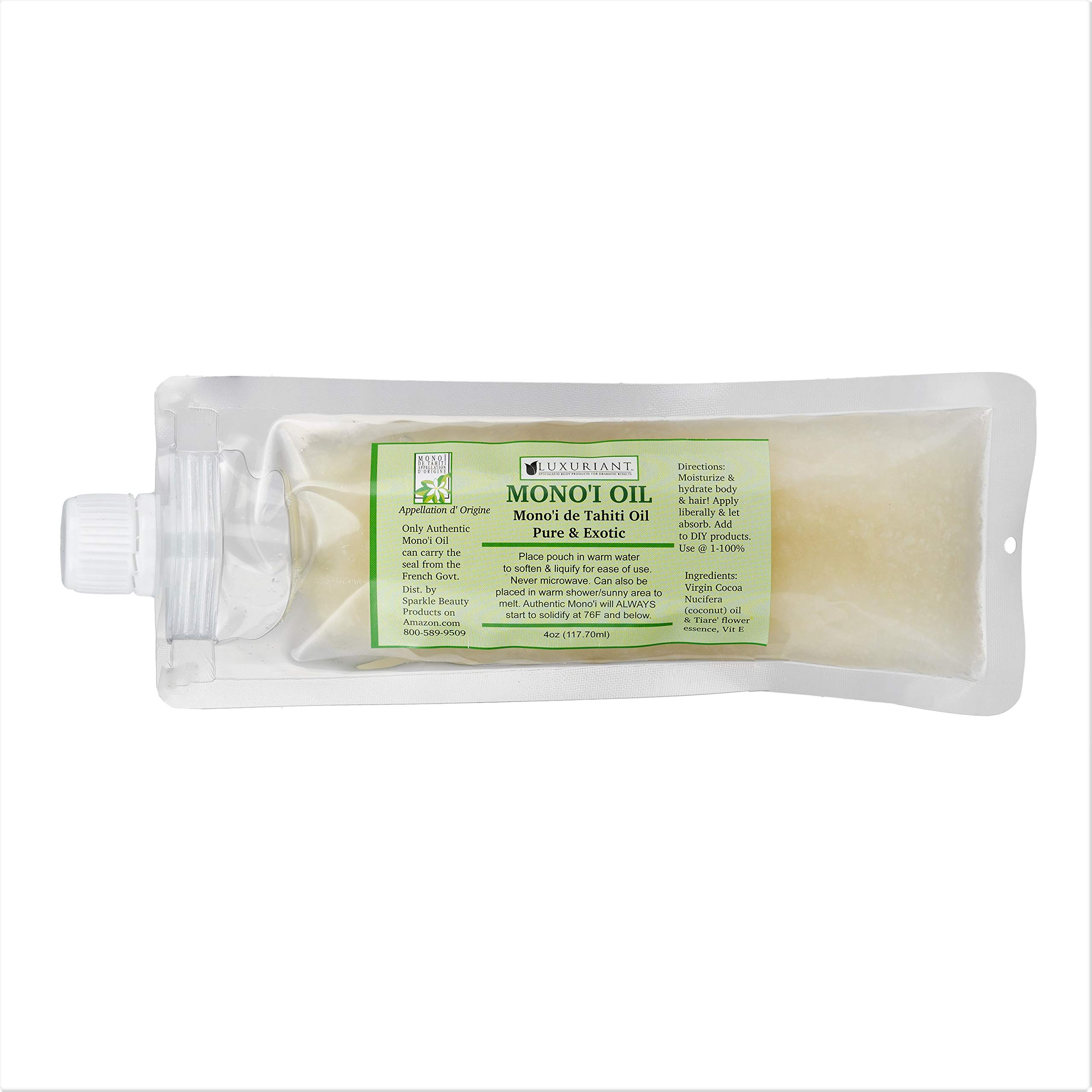 Monoi De Tahiti Oil-100% Natural-4 oz