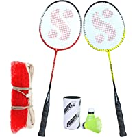 Silver's Flex Combo-6 (2 B/Rackets + 2 Pcs Plastic Shuttle + 1pc. Badminton Net Nylon)