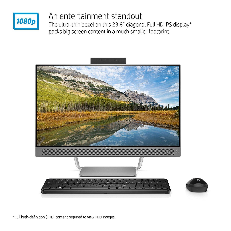 HP 2017 Pavilion 24 Desktop 5TB HD 32GB RAM (Intel Core i7-7700K Processor 4.20GHz Turbo to 4.50GHz, 32 GB RAM, 5 TB HD, 24
