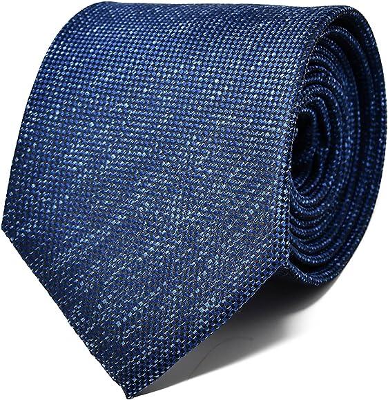 Oxford Collection Corbata de hombre Azul Oscuro - 100% Seda - Clásica, Elegante y Moderna - (ideal para un regalo, una boda, con un traje, en la oficina.): Amazon.es: Ropa y accesorios