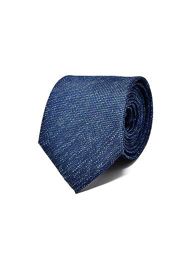 e7d2858ec2193 Oxford Collection Cravate Homme Bleu Foncé/Marine - 100% en Soie -  Classique,