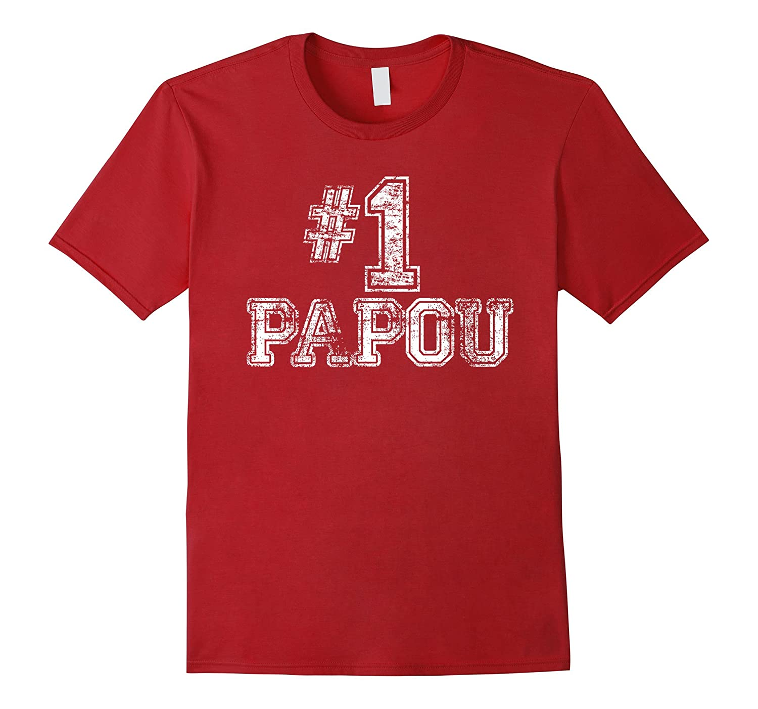 #1 Papou T Shirt – Number One Father's Day Gift Tee