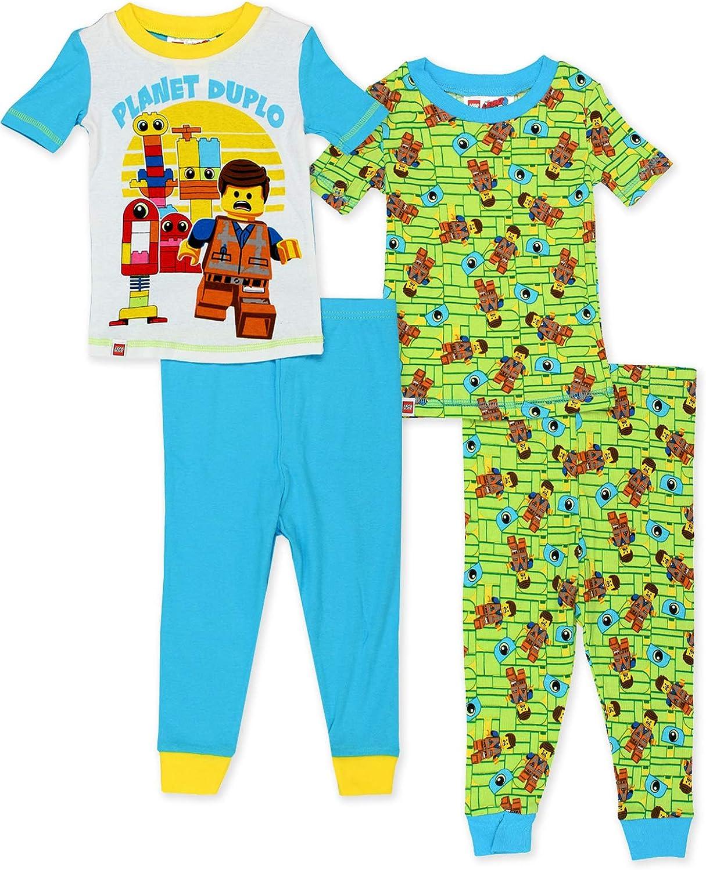 Lego Movie 2 The Second Part Toddler Boys 2fer 4-Piece Short Sleeve Cotton Pajamas Set