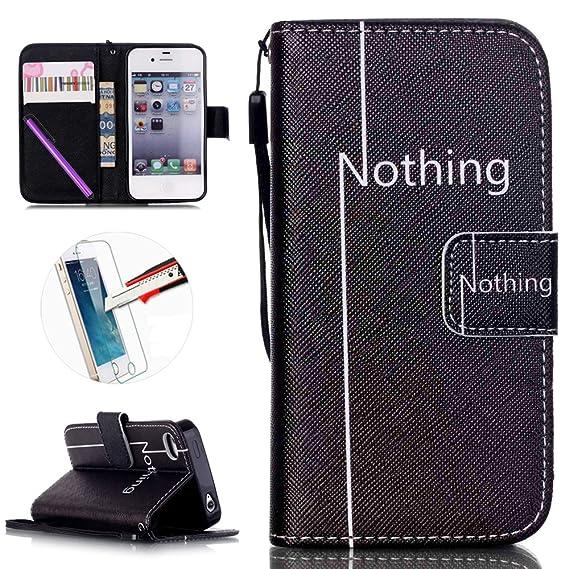designer fashion e0e0c 9d7fd Amazon.com: iPhone 4S Case, ISADENSER Wallet PU Leather Case Folding ...