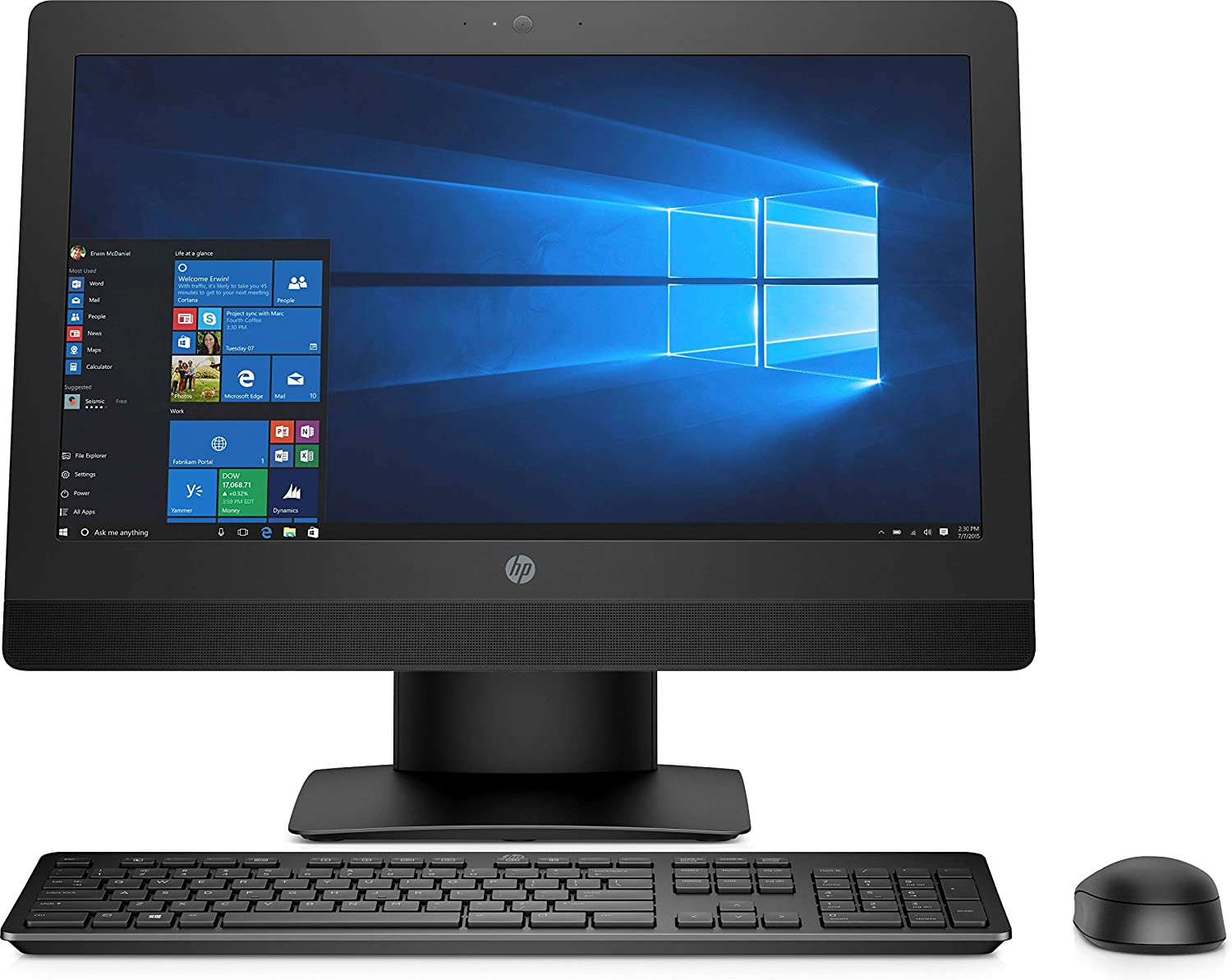 "HP 1NZ41UT#ABA Prodesk 600 G3 21.5"" All-in-One Pc, 8 GB Ram, 1 Tb HDD, Intel HD Graphics, Black"