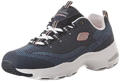 Details about Women's Shoes Skechers D'Lite Ultra High Sneakers Comfort Memory Foam Slip on