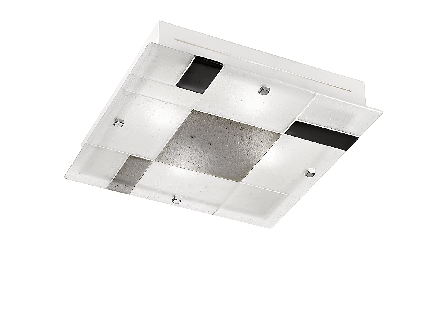 Rossini Plafoniere Led : Rossini illuminazione q n led plafoniera vetro amazon