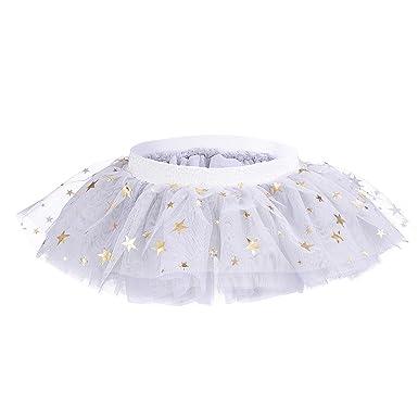 dadc7fe426 Amazon.com: Baby Girls' Tutu Skirt Toddler 5 Layered Tulle Skirt 0 ...