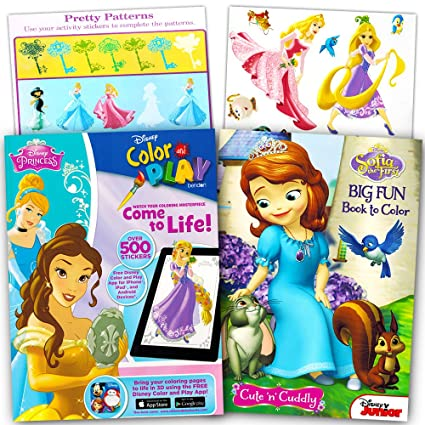 Disney Princess Ultimate Coloring Book And Sticker Set 2 Books With Over 500